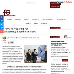 5 Keys To Preparing For Competency-Based Interviews
