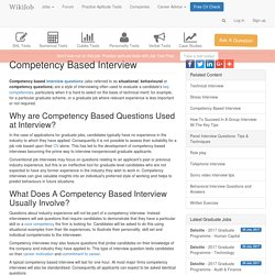 Competency Based Interviews: A Complete Guide
