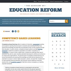 Competency-Based Learning Definition