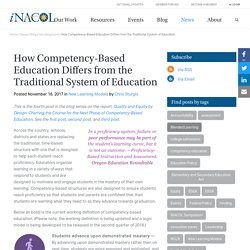 How Competency-Based Education Differs from the Traditional System of Education