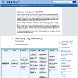 <cite>The Globally Competent Teaching Continuum</cite> - Introduction - The Globally Competent Teaching Continuum