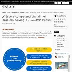 Essere competenti digitali nel problem-solving #DIGCOMP #post6