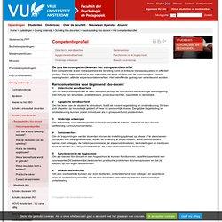 Het competentieprofiel - Basisopleiding hbo-docent - Faculteit der Psychologie en Pedagogiek, Vrije Universiteit Amsterdam