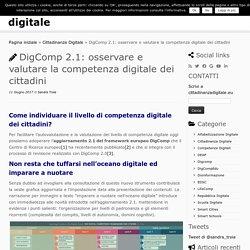 DigComp 2.1: osservare e valutare la competenza digitale dei cittadini - cittadinanza digitale