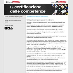 Valutare le competenze con le rubriche « La certificazione delle competenze