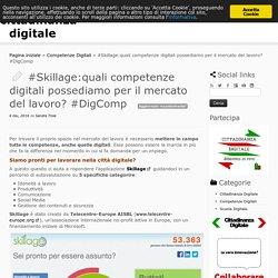 #Skillage:quali competenze digitali possediamo per il mercato del lavoro? #DigComp - cittadinanza digitale