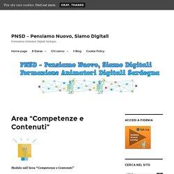 """PNSDSardegna - Area """"Competenze e Contenuti"""""""