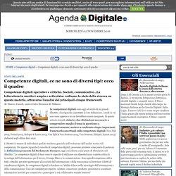 Competenze digitali, ce ne sono di diversi tipi: ecco il quadro