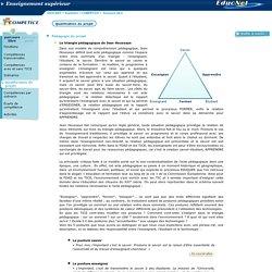 Triangle pédagogique Houssaye