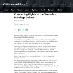 Competing Rights in the Same-Sex Marriage Debate - ABC Religion & Ethics
