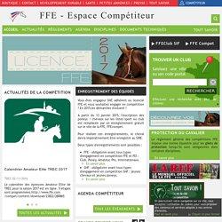 Espace Compétiteurs / Sites FFE - Portail FFE - Espace compétiteur