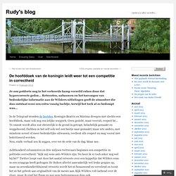 De hoofddoek van de koningin leidt weer tot een competitie in correctheid | Rudy's blog