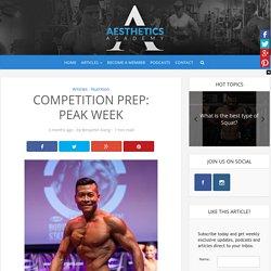 Competition Prep: Peak Week – Aesthetics Academy