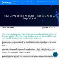 How Competition Analysis Helps You Keep A Step Ahead