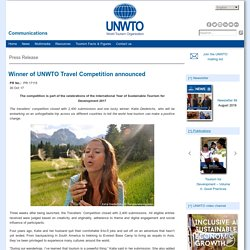 Winner of UNWTO Travel Competition announced