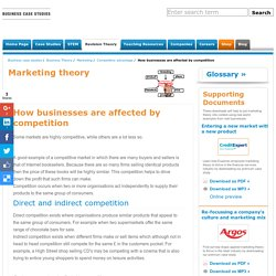 How businesses are affected by competition Competitive advantage business studies and business english