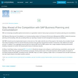 Stay Ahead of the Competition with SAP Business Planning and Consolidation!