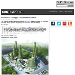 MVRDV wins Gwanggyo City Centre Competition