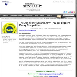 The Jennifer Fluri and Amy Trauger Student Essay Competition