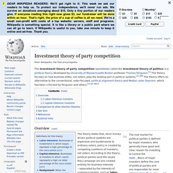 Investment theory of party competition