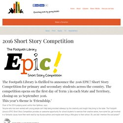 2016 Short Story Competition