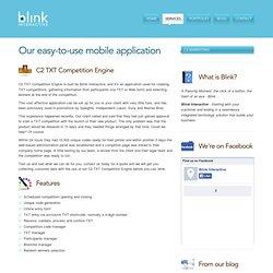 C2 Marketing Online & TXT Competition Engine - Blink Interac