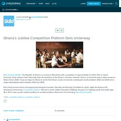 Ghana's Jubilee Competition Platform Gets Underway