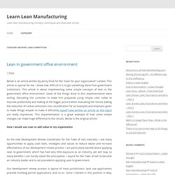 Learn Lean Manufacturing
