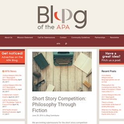 Short Story Competition: Philosophy Through Fiction