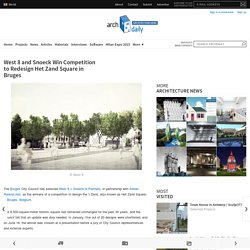 West 8 and Snoeck Win Competition to Redesign Het Zand Square in Bruges