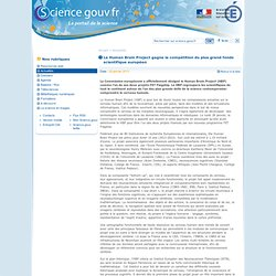 Le Human Brain Project gagne la comp?tition du plus grand fonds scientifique europ?en - Actualit?s