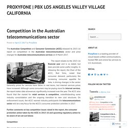 Competition in the Australian telecommunications sector