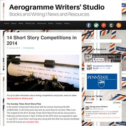 Aerogramme Writers' Studio14 Short Story Competitions in 2014