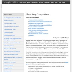 Short Story Competitions 2017, List of Writing Competitions UK - Christopher Fielden