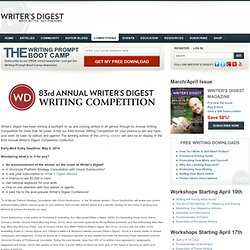 Writer's Digest Annual Writing Competition | WritersDigest.com