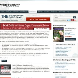 Writing Contests, Creative Writing Competitions 2013