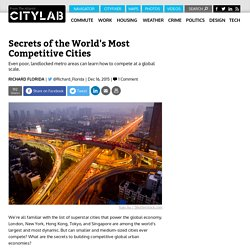 The World's Most Competitive Cities, According to the World Bank