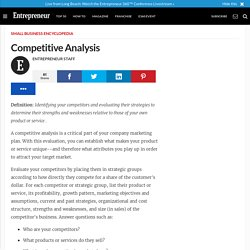 Competitive Analysis - Small Business Encyclopedia