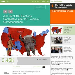 Just 35 of 435 Elections Competitive after 201 Years of Gerrymandering