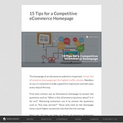 15 Tips for a Competitive eCommerce Homepage – iMediaDesigns