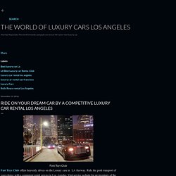 Ride On Your Dream Car by a Competitive Luxury Car Rental Los Angeles