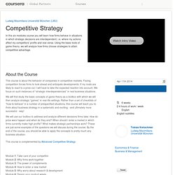 Competitive Strategy Uni MUNICH