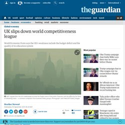 UK slips down world competitiveness league