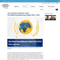 World Economic Forum - The Global Competitiveness Report 2014 - 2015