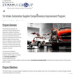 2nd Round: Automotive Supplier Competitiveness Improvement Program