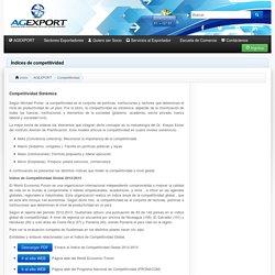 Índices de competitividad - AGEXPORT