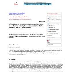 Estrategias de competitividad tecnológica en la conectividad móvil y las comunicaciones de la industria 4.0 en Latinoamérica
