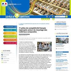 11 pôles de compétitivité français regroupés autour du recyclage des matériaux composites