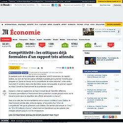Compétitivité : les critiques déjà formulées d'un rapport très attendu