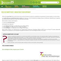 Les Pôles de compétitivité dans le Doubs et en Franche-Comté